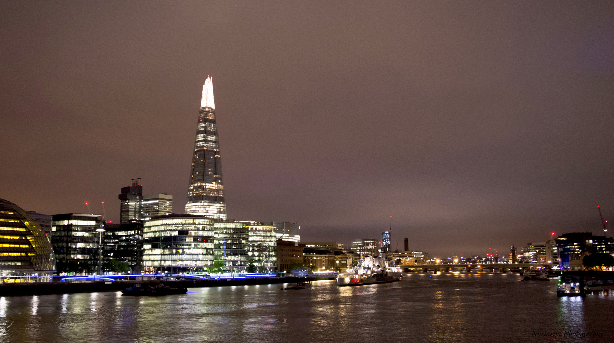 View of the Shard London UK